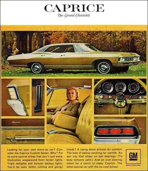 chevrolet 1967 caprice hardtop sedan